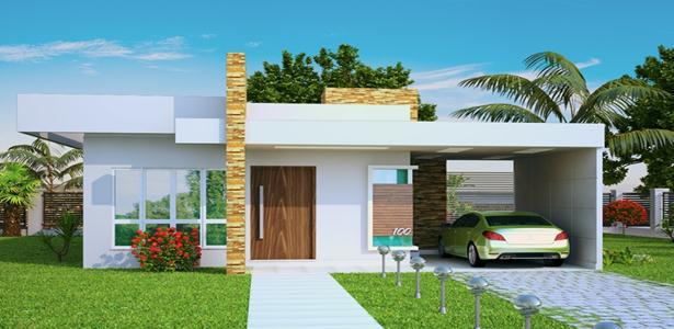 10 fachadas de casas modernas y simples for Fachadas de casas modernas 2013
