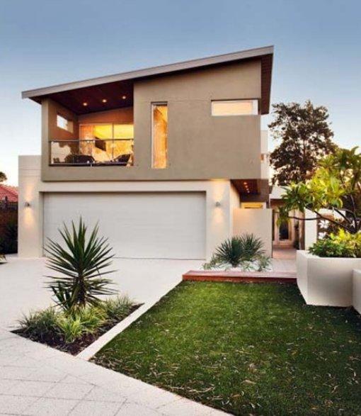 11 fachadas de casas modernas a desnivel fachadas de for Casas modernas fachadas bonitas