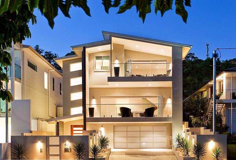 11 fachadas de casas modernas a desnivel fachadas de