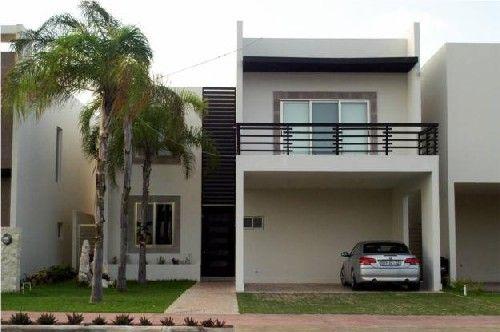 12 hermosas y modernas fachadas de casas con balc n for Fachadas de casas modernas tipo americano