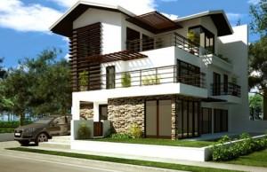 12 Hermosas y modernas fachadas de casas con balcón (10)