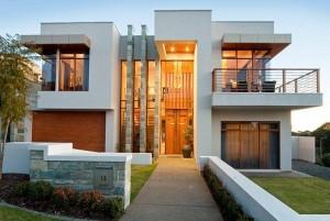 12 Hermosas y modernas fachadas de casas con balcón (11)