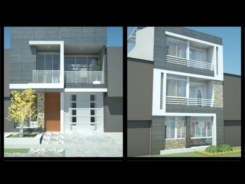 12 hermosas y modernas fachadas de casas con balc n - Casas con chimeneas modernas ...