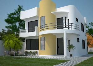 12 Hermosas y modernas fachadas de casas con balcón (6)
