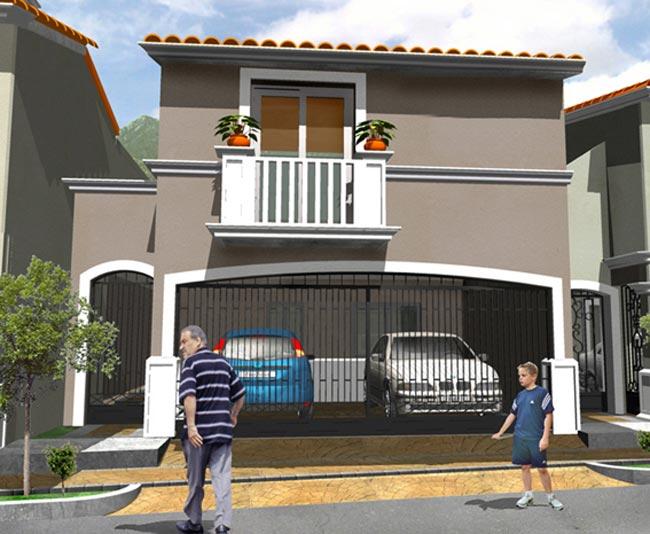 12 bonitas fachadas de casas con tejas fachadas de casas for Casas con terraza al frente