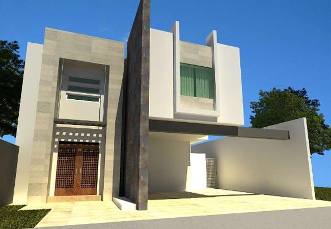 9 hermosas fachadas de casas modernas con piedra - Fachadas de piedra modernas ...