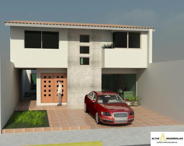 11 fachadas de casas modernas con garaje fachadas de for Fachadas de garajes