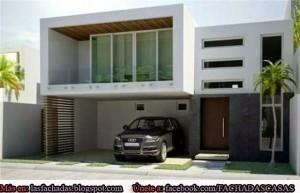 11 Fachadas de casas modernas con garaje (2)