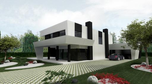 11 interesantes fachadas de casas modernas con p rgolas - Materiales para fachadas modernas ...