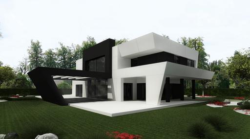 11 interesantes fachadas de casas modernas con p rgolas for Imagenes de fachadas de oficinas modernas