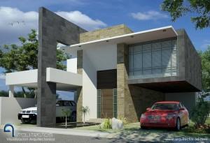 11 Interesantes fachadas de casas modernas con cantera (7)