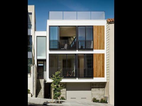 10 fachadas de casas modernas de 3 niveles fachadas de for Casas modernas alargadas