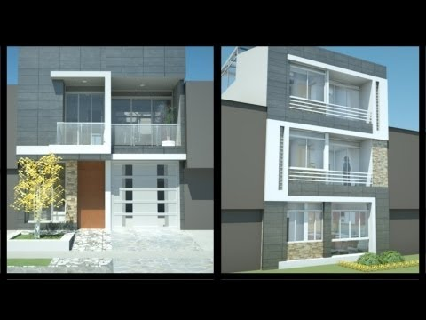 Fachadas de casas modernas ideas de fachadas planos for Casa moderna de 7 x 15