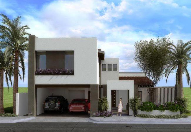 10 fachadas de casas modernas con jardineras fachadas de for Casas modernas 2016 fachadas
