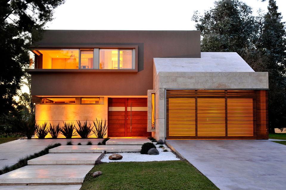 10 Fachadas De Casas Modernas Con Jardineras Fachadas De Casas - Fachada-de-casas-de-dos-plantas