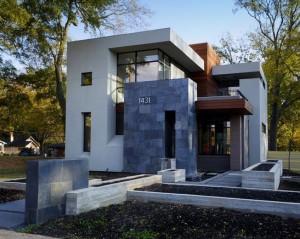 10 fachadas de casas modernas con jardineras (7)