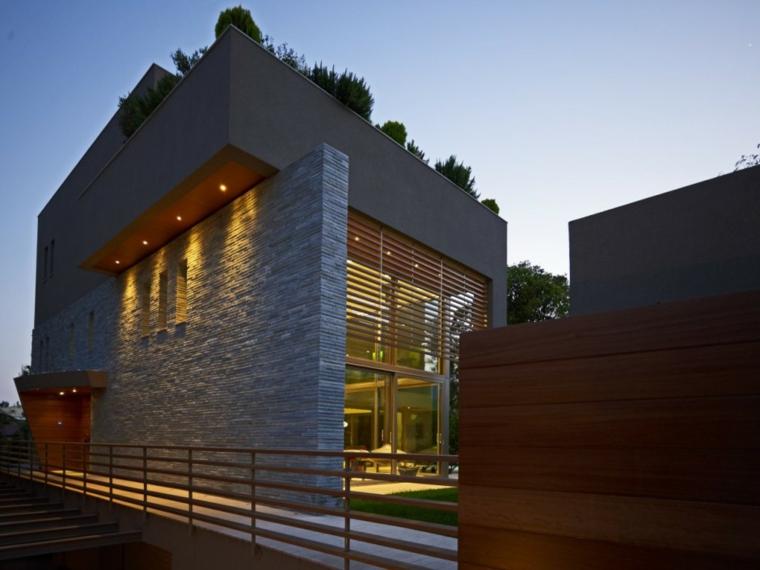 10 fachadas de casas modernas con piedras fachadas de - Fachadas de piedra modernas ...