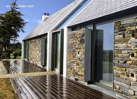 10 fachadas de casas modernas con piedras fachadas de casas modernas - Piedras para fachadas de casas ...