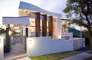 10 fachadas de casas modernas en desnivel (1)