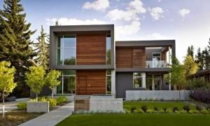 11 fachadas de casas modernas a desnivel (10)