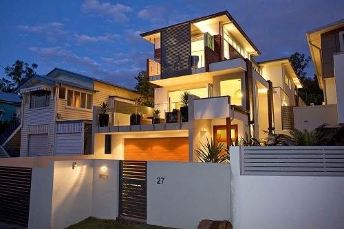 11 fachadas de casas modernas en desnivel fachadas de for Fachadas de casas modernas a desnivel