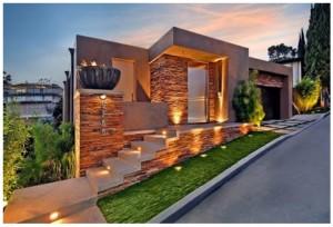 11 fachadas de casas modernas a desnivel (7)