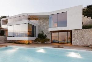 11 fachadas de casas modernas a desnivel (8)