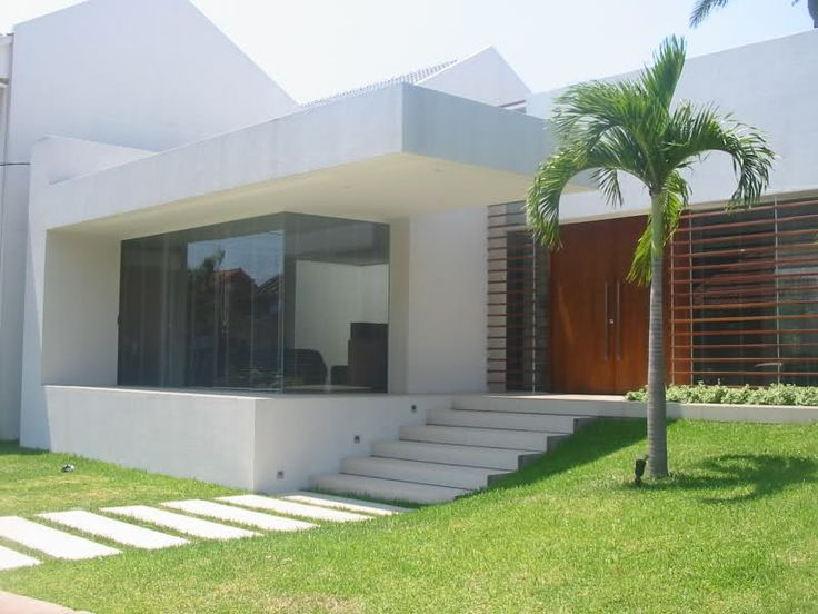 10 fachadas de casas modernas blancas fachadas de casas modernas - Rejas de casas modernas ...