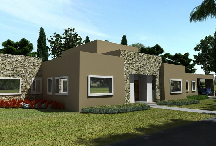 10 fachadas de casas modernas con molduras fachadas de for Plantas minimalistas para exteriores