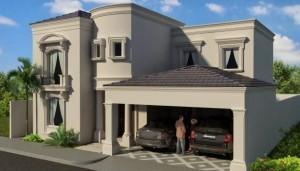 10 fachadas de casas modernas con molduras (7)