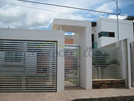 10 fachadas de casas modernas con rejas