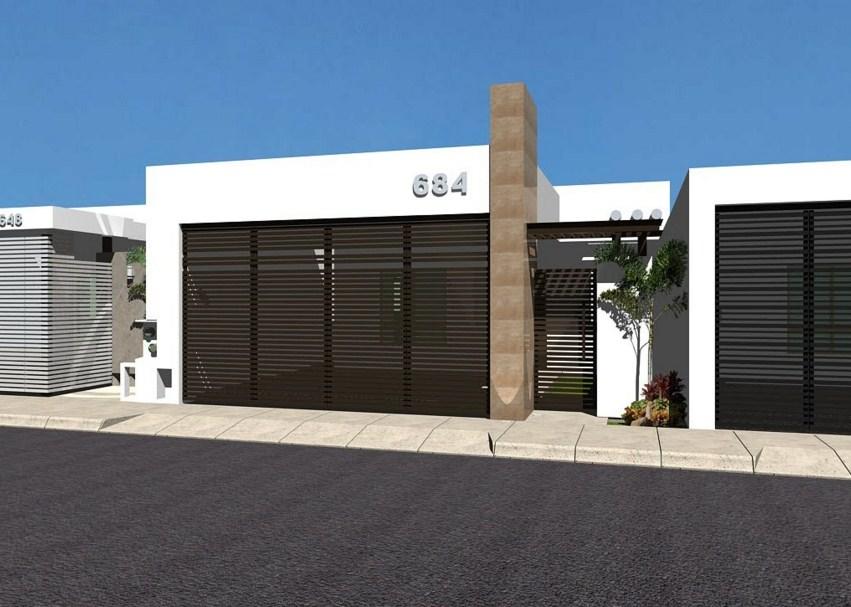 10 fachadas de casas modernas con rejas fachadas de for Plantas minimalistas para exteriores
