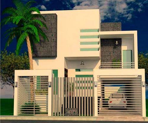 10 fachadas de casas modernas con rejas for Ingreso casas modernas